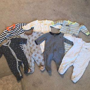 Lot of baby boy sleepers 3-6 MO